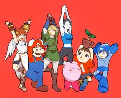 It'd be funnier if link was the only one who falls since he's the only one who can't hold the tree pose...