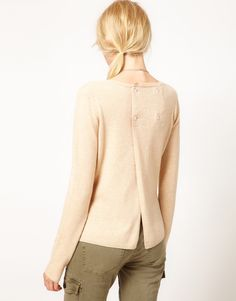 Denham Sweater With Button Back...it's all about the details