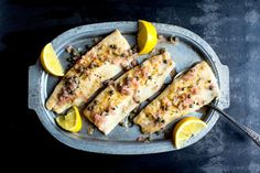 Pan-Fried Trout With Rosemary, Lemon and Capers