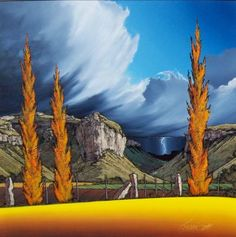 Johan Smith Landscape Art, Landscape Paintings, Oil Paintings, Landscapes, Art And Illustration, African Colors, South African Artists, Spring Art, Naive Art