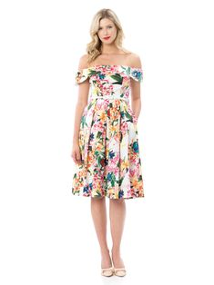 Floral Fashion, Colorful Fashion, Passion Flower, Review Fashion, Review Dresses, Flower Dresses, Dress Collection, Frocks, Strapless Dress