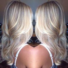 Platinum Blonde Balayage Hair Style - Haarfarbe Designs