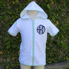 Boys monogrammed beach cover up
