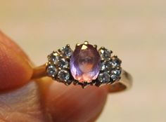 Pink Zircon & Diamond 925 Sterling Silver Engagement Ring - Size 7.50 #SolitairewithAccents