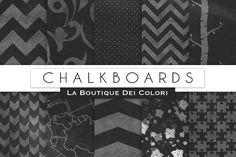 Chalkboard Digital Paper by La Boutique dei Colori on @creativemarket