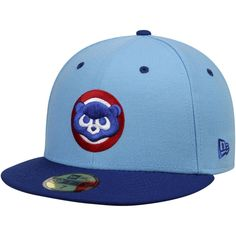 e056a41aa64 Men s Chicago Cubs Low Crown New Era Light Blue Royal Cooperstown Bear Head  2-Tone 59FIFTY Fitted Hat