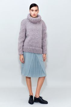 my wooly world Thick Sweaters, Chemistry, Turtleneck, Midi Skirt, Knitting, Purple, Sexy, Skirts, How To Wear