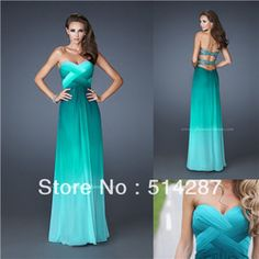 Online Shop Vestidos de fiesta Sweetheart Pleat A Line Floor Length Green Backless Prom Dresses 2014 New Arrival Evening Dress|Aliexpress Mobile
