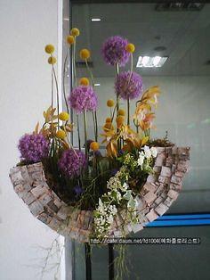 Art Floral, Deco Floral, Floral Design, Flower Boxes, Diy Flowers, Spring Flowers, Flower Show, Flower Art, Modern Floral Arrangements
