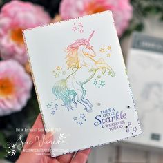 Miss Pinks Craft Spot: Sparkle with a Rainbow Unicorn