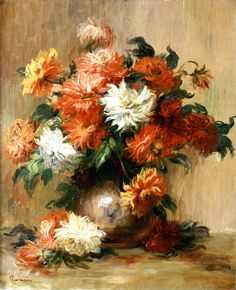 Auguste Renoir  Still Life with Dahlias  1885-90