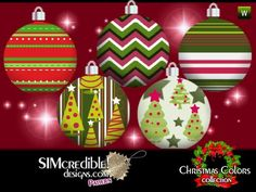 SIMcredible!'s Christmas Colors Patterns