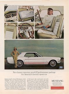 49 Years of Mustang Advertising - The Truth About Cars Ford Mustang 1964, Ford Mustang For Sale, Mustang Cars, Ford Mustangs, Classic Mustang, Ford Classic Cars, Vintage Mustang, Pony Car, Ad Art