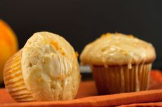 Orange Glazed Muffins | afoodieaffair.com