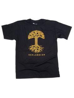 4586da92 Oaklandish Classic Black with Gold Men's T-shirt Christmas Presents,  Creative Inspiration, Cool