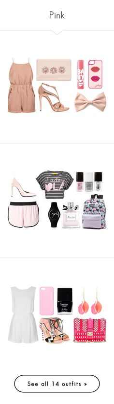"""Pink"" by amode ❤ liked on Polyvore featuring Topshop, Ted Baker, Casadei, Maybelline, Forever 21, Juicy Couture, Soul Cal, Filles à papa, Yves Saint Laurent and Ice-Watch"