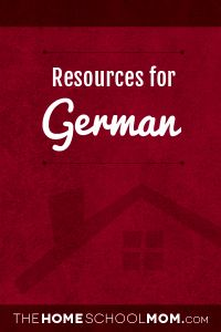 German - TheHomeSchoolMom: a list of online resources