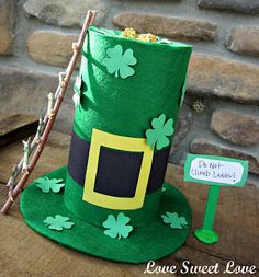 So cute... It's a leprechaun trap! Gotta get the upper hand with those tricksy little guys.