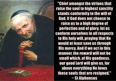 St Alphonsus on God's will and sanctity. www.religiousbookshelf.org