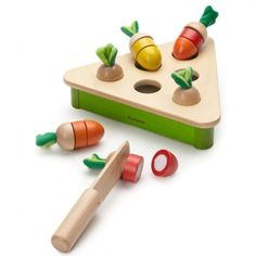 Pluck Carrot Wooden Toy <3