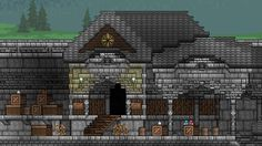 Terraria--stone house