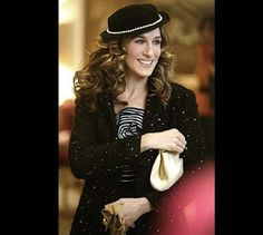 appreciating the details: Carrie Bradshaw in Paris