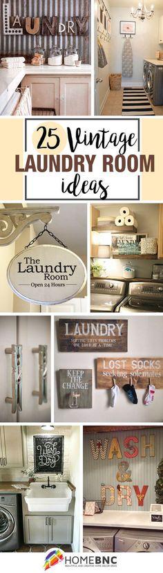 Vintage Laundry Room Decor Designs