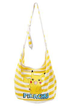 Pokemon Pikachu Yellow White Stripe Hobo Bag ($19.50 @ Hot Topic)