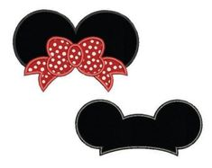 Mickey and Minnie mouse ears set applique design - Disney embroidery design - Monogram frame - Machi Minnie Mouse, Mouse Ears, Applique Embroidery Designs, Machine Embroidery Applique, Disney Applique, Mouse Silhouette, Disney Images, Monogram Frame, Disney Ears