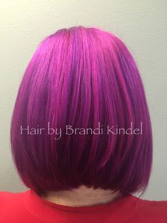 Pravana Wild orchid with Purple & Wild Orchid with magenta!!!! So fun doing this color!