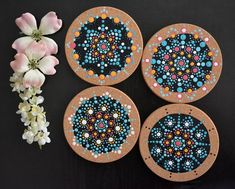 Image may contain: food Coasters, Crafts, Image, Ideas, Food, Pointillism, Cup Holders, Ornaments, Crafting