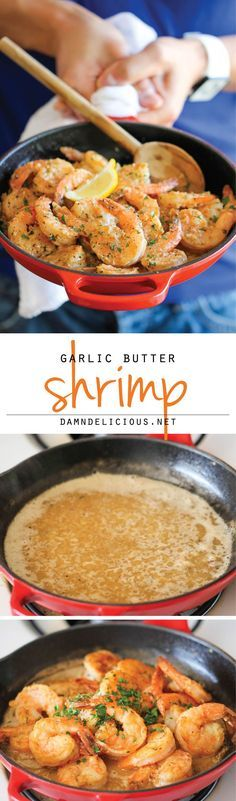Garlic Butter Shrimp #justeatrealfood #damndelicious