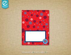 Printable Polka Dot Birthday Place Cards