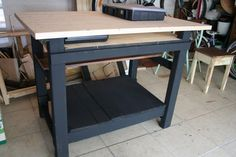 painted workbench