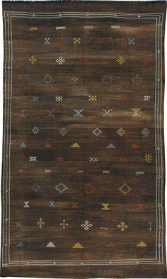 Vintage Moroccan Kilim, No. 21950