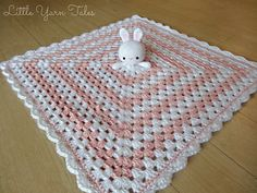 This is a pattern for the AMIGURUMI BUNNY of a lovey/security blanket! (I made the blanket using a free pattern by another author)