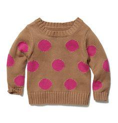 Joe Fresh Baby Girl's Dot Sweater