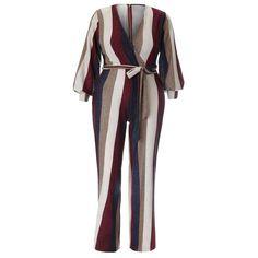 84b96a5657b Plus Size Metallic Knit Flared Jumpsuit