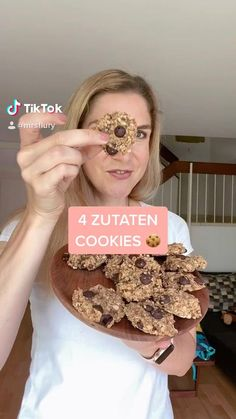 Cookies Healthy, Healthy Vegan Desserts, Vegan Sweets, Vegan Snacks, Vegan Vegetarian, Healthy Recipe Videos, Healthy Chicken Recipes, Healthy Dinner Recipes, Vegan Recipes