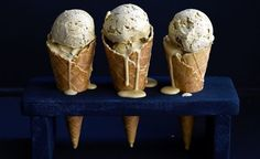 When it is time to impress your friends or when regular flavours won't satisfy your sweet tooth, it is time to go gourmet. Here is our selection of gourmet ice cream recipes that are so good you'll have trouble sharing them. Licorice Ice Cream, Gourmet Ice Cream, Flavor Ice, Ice Cream Recipes, Sweet Tooth, Sweet Treats, Vanilla, Deserts, Black Sesame