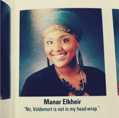 Well played girl in yearbook, well played..