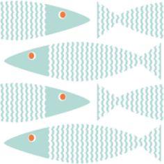 Little Oasis Custom Fish Print!  Choose: crib sheet, changing cover, bumper, skirt, blanket, pillow.