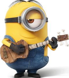 """Stuart playing the guitar in the """"Minions"""" movie"""