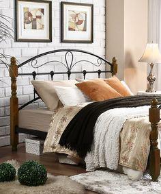 Another great find on #zulily! Dark Walnut Platform Bed #zulilyfinds
