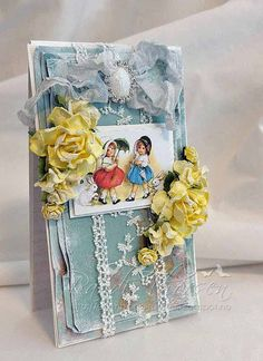 Scrap and Craft: Happy Easter! using products from www.scrapandcraft.co.uk #cards #crafts #Easter #Studio75 #lace #flowers
