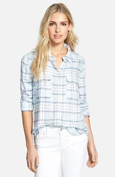 Paige Denim 'Trudy' Oversized Button Front Shirt available at #Nordstrom