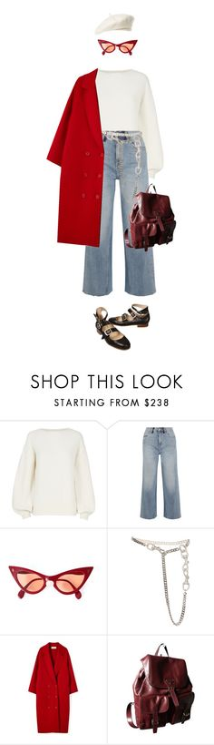 """Wooly"" by mywayoflife ❤ liked on Polyvore featuring Helmut Lang, M.i.h Jeans, Christian Dior, Prada, Brixton, Vivienne Westwood, denimtrend and widelegjeans"