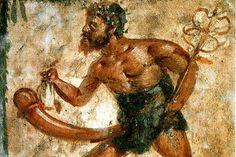 Priapo è un dio della mitologia greca e romana, noto per la sua dote della lunghezza del pene. Nell'arte romana, veniva spesso raffigurato in affreschi e mosaici, generalmente posti anche all'ingresso di ville ed abitazioni patrizie. Il suo enorme membro era infatti considerato un amuleto contro il malocchio, nonché simbolo di fecondità e capacità di generare la continuità della gens.  #sextoysnellarte #sextoys #vibratori #arte
