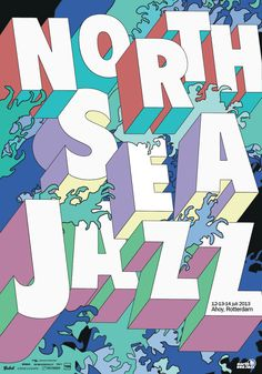 Poster: 100 x 70 cm  For the North Sea Jazz festival 2013 I designed several art-posters. All based on one concept, using the words: colors, waves, performance and atmosphere. These four aspects you experience in art and in music.  By having a...