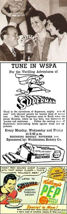 "12 Feb 40: The syndicated radio serial ""The Adventures of Superman"" premieres to millions of listeners. During the war years, the Man of Steel regularly dispenses ""truth, justice and the American way"" to many a Nazi and Japanese spy and saboteur. More: http://scanningwwii.com/a?d=0212&s=400212 #WWII"